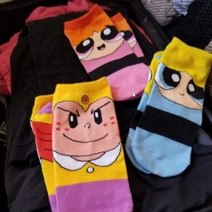 Other - No show powerpuff girls socks